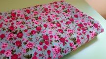 grey rose print cotton