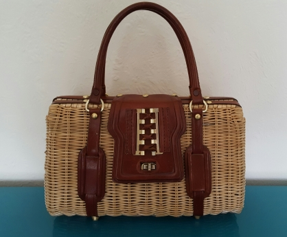 1950s wicker bag